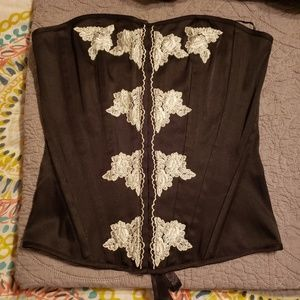 Womens black and lace corset